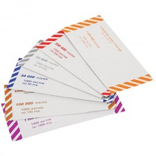 Накладки для денежных купюр цветные - рубли все номиналы