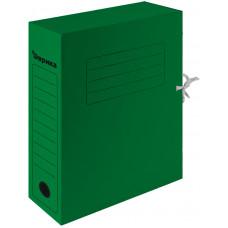 Папка архивная 75 мм. зеленая с завязками