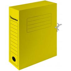 Папка архивная 75 мм. желтая с завязками