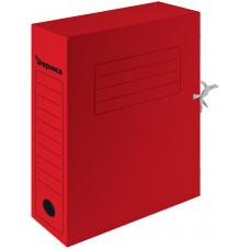 Папка архивная 75 мм. красная с завязками