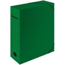 Папка архивная 75 мм. зеленая с резинками