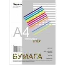 Бумага цветная Эврика ИНТЕНСИВ, mix