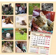 Календарь на скрепке -  КотоКалендарь