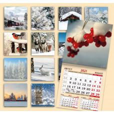 Календарь на скрепке - Русская зима
