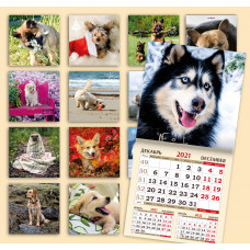 Календарь на скрепке - СобакоКалендарь