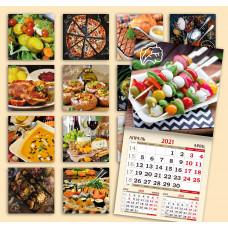 Календарь на скрепке - Еда