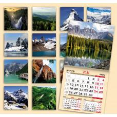 Календарь на скрепке - Великолепие гор