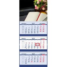 Офис: ноутбук, цветы